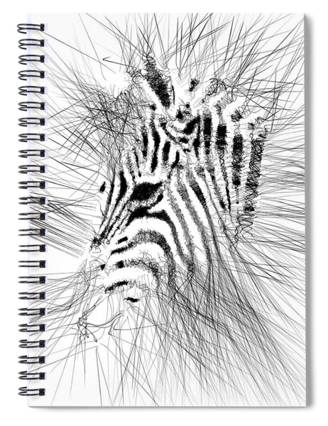 Spiral Notebook featuring the digital art Zebrart by ISAW Company