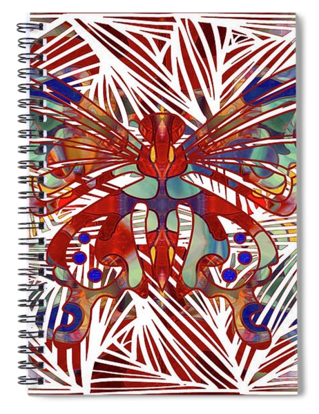 Zen Butterfly Abstract Digital Mixed Media Artwork By Omaste Witkowski Spiral Notebook