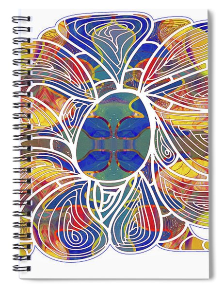 Zen Flower Abstract Meditation Digital Mixed Media Art By Omaste Witkowski Spiral Notebook by Omaste Witkowski