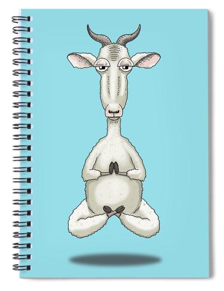 Zen Goat Meditating Spiral Notebook