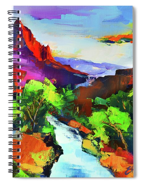 Zion - The Watchman And The Virgin River Spiral Notebook