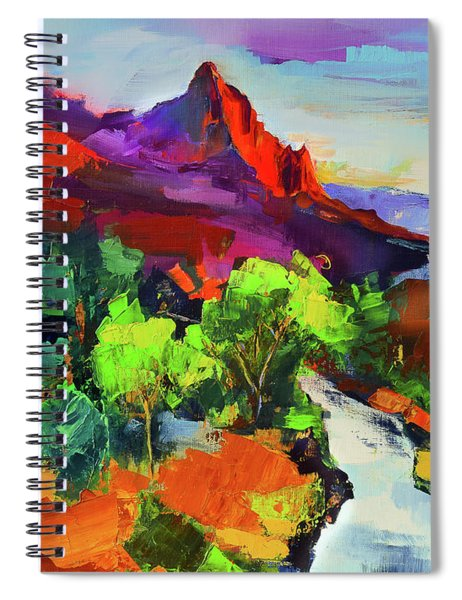 Zion - The Watchman And The Virgin River Vista Spiral Notebook