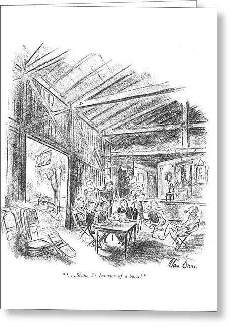 ' . . . Scene 3: Interior Of A Barn.' Greeting Card