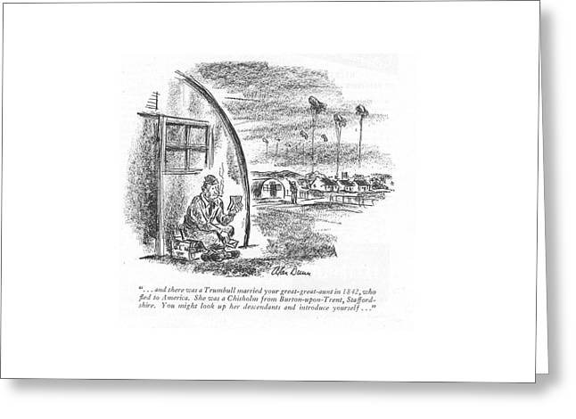 . . . And There Was A Trumbull Married Greeting Card by Alan Dunn