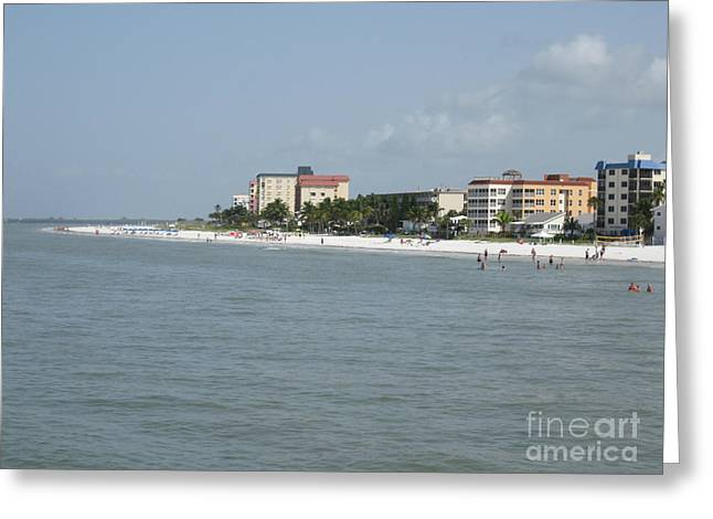 White Sandy Fort Myers Beach   Greeting Card