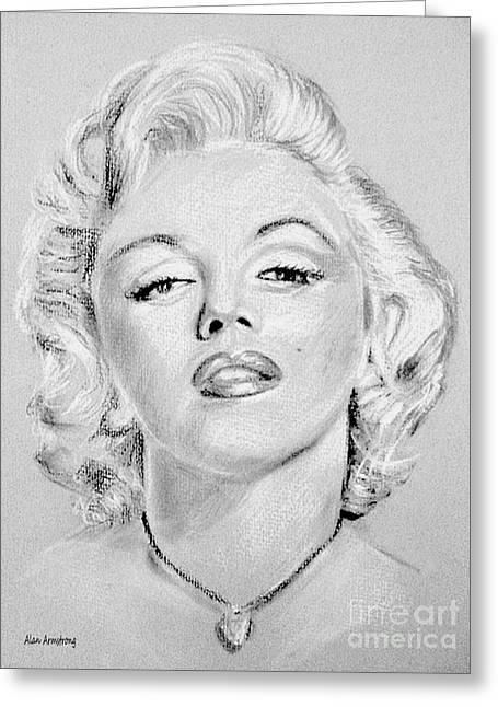 # 1 Marilyn Monroe Portrait. Greeting Card