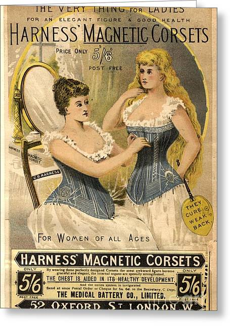 1890s Uk Corsets Girdles Magnetic Greeting Card by The Advertising Archives