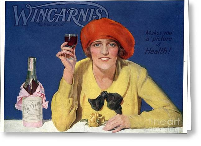1910s Uk Wincarnis Wine Fortified Greeting Card by The Advertising Archives