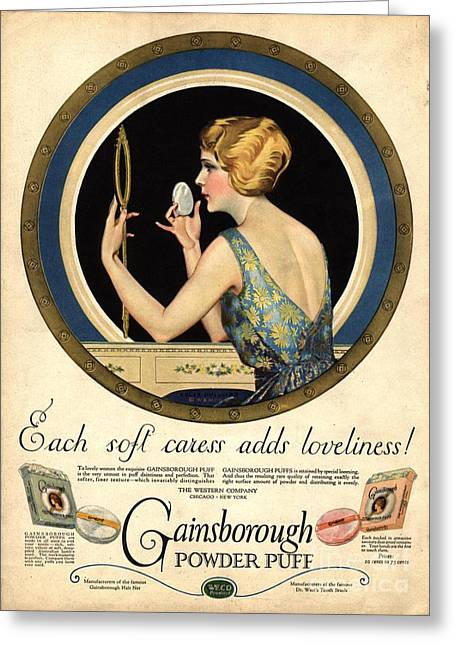 1910s Usa Pampering Make-up Makeup Greeting Card by The Advertising Archives