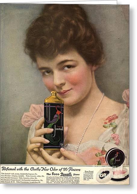 1910s Usa Talc Talcum Powder Jonteel Greeting Card by The Advertising Archives