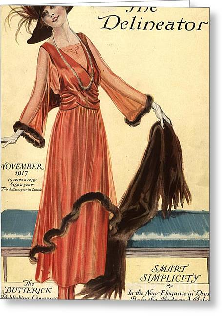 1910s Usa Womens Magazines Clothing Greeting Card by The Advertising Archives