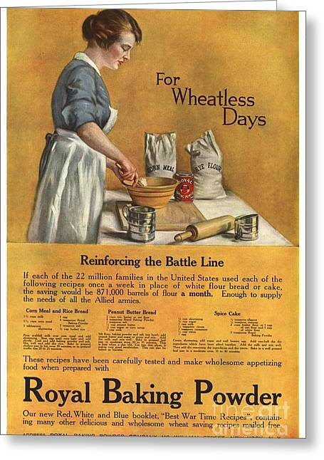 1918 1910s Usa Cooking Royal Baking Greeting Card by The Advertising Archives