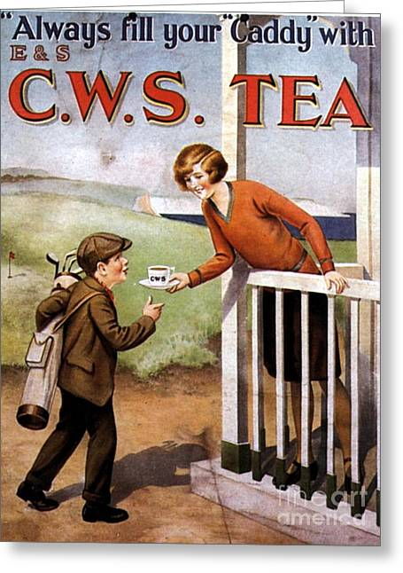 1920s Uk Tea Golf Cws Greeting Card by The Advertising Archives