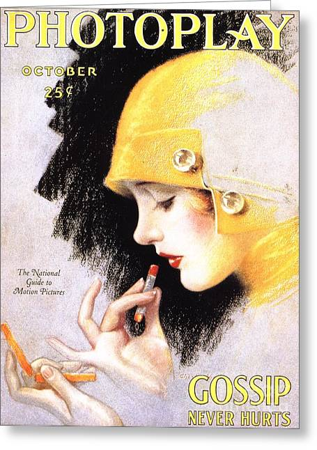 1920s Usa Photoplay Lipsticks Putting Greeting Card by The Advertising Archives
