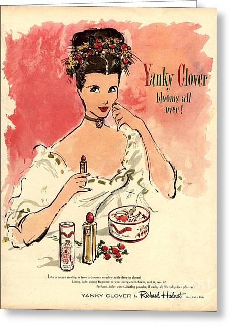 1930s Usa Yanky Clover Make-up Makeup Greeting Card