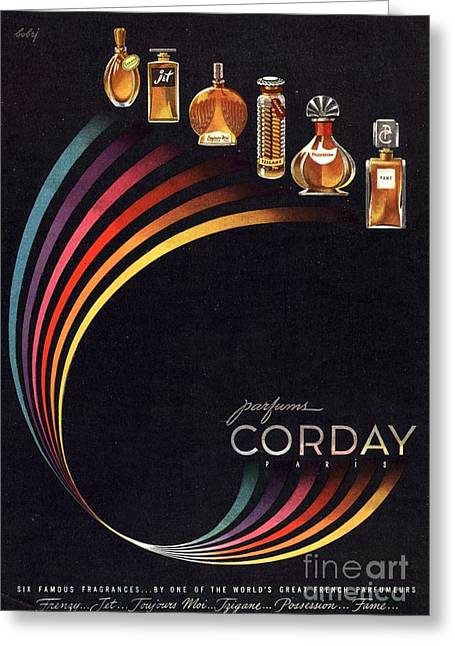 1940s Usa Corday   Womens Greeting Card by The Advertising Archives