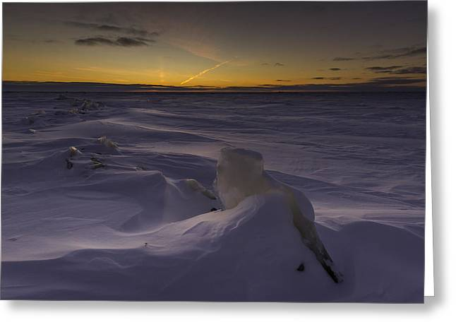 -25 Freezing Sunset Greeting Card