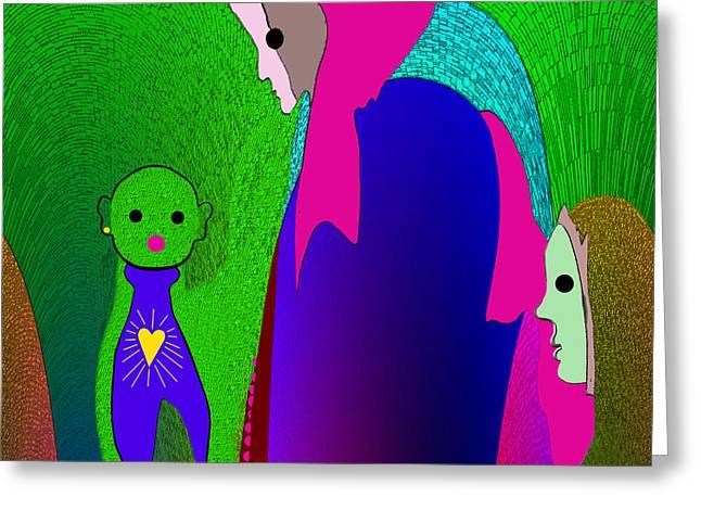 648 - Little Monster Heart ...  Greeting Card