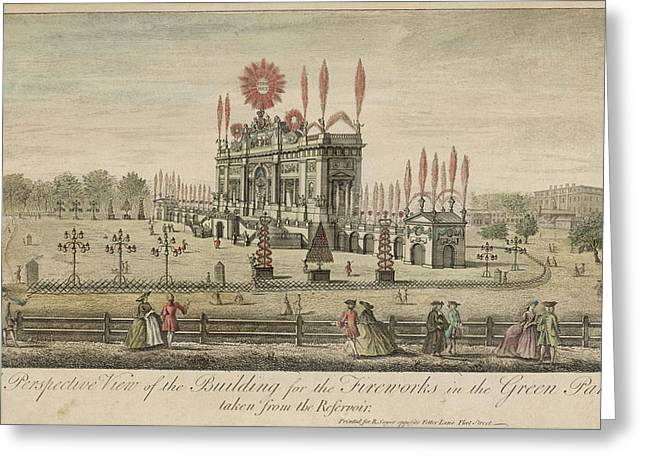 A Fireworks Display At Green  Park Greeting Card by Mary Evans Picture Library