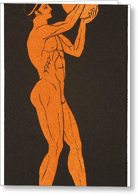 A Greek Discus Thrower Greeting Card by Mary Evans Picture Library