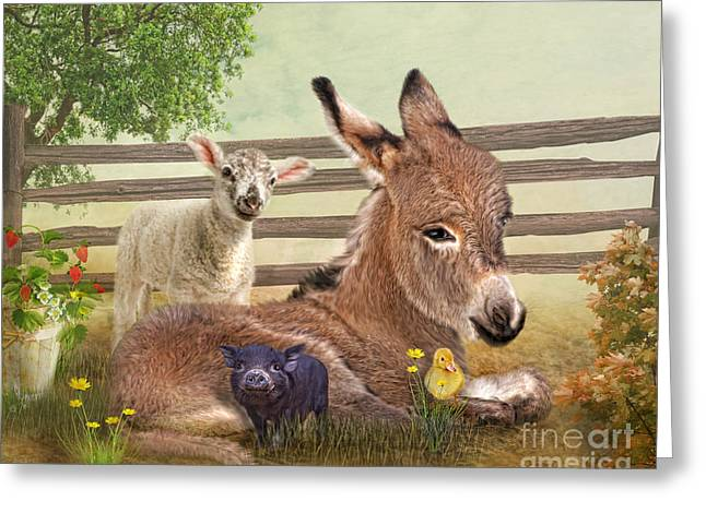 A Little Rest Greeting Card by Trudi Simmonds