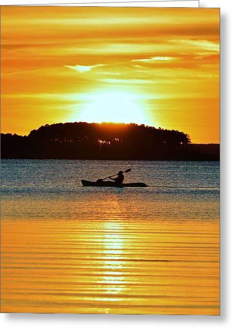A Reason To Kayak - Summer Sunset Greeting Card
