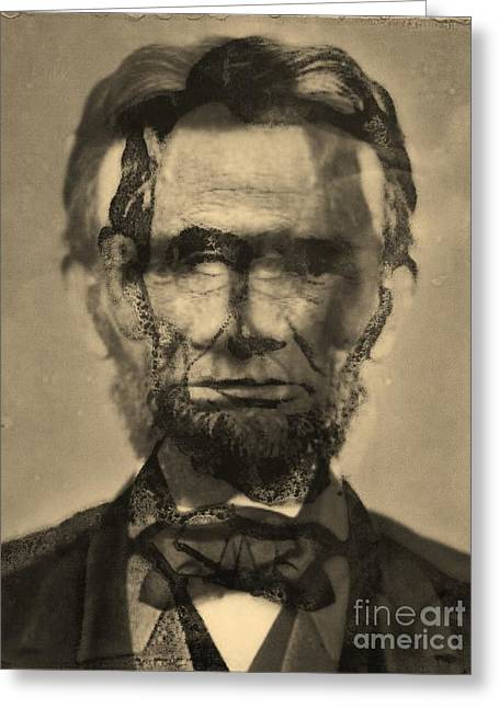 Abraham Lincoln Greeting Card by Michael Kulick