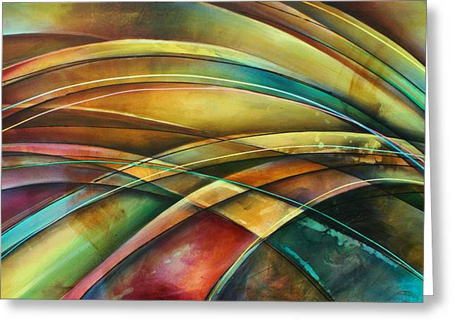 ' Abstract ' L1 Greeting Card by Michael Lang