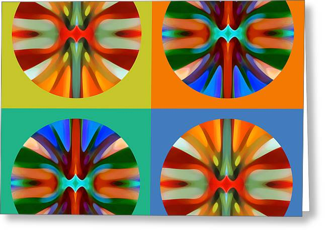 Abstract Circles And Squares 2 Greeting Card