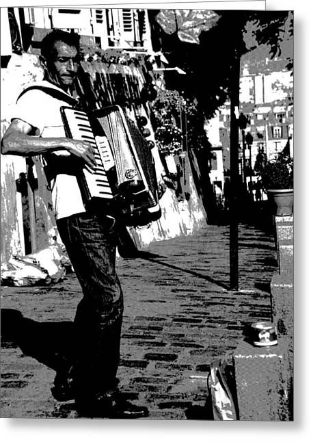 Accordioniste Greeting Card