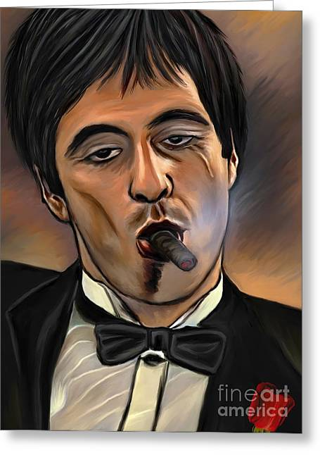 Al Pacino-godfather Greeting Card