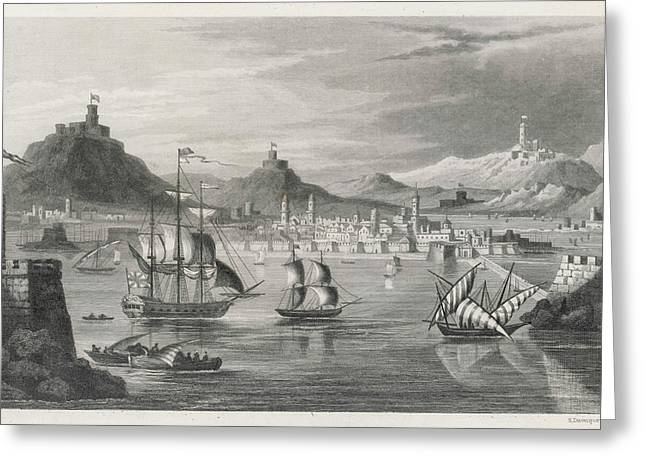 Algiers  Viewed From The Sea Greeting Card by Mary Evans Picture Library