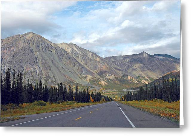 Greeting Card featuring the photograph  Along The Parks Highway  by Dyle   Warren