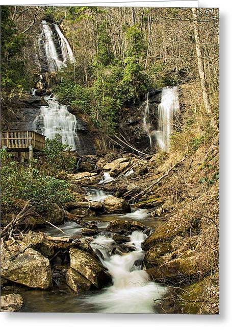 Amacola Falls Greeting Card by Penny Lisowski
