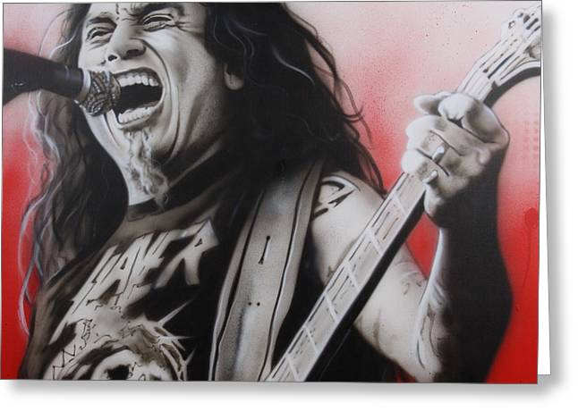 Slayer - ' Arhhhhhhhh ' Greeting Card by Christian Chapman Art