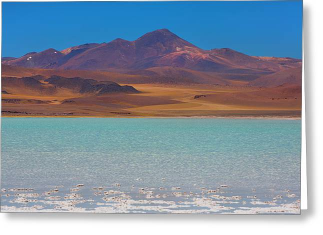 Atacama Salt Lake Greeting Card