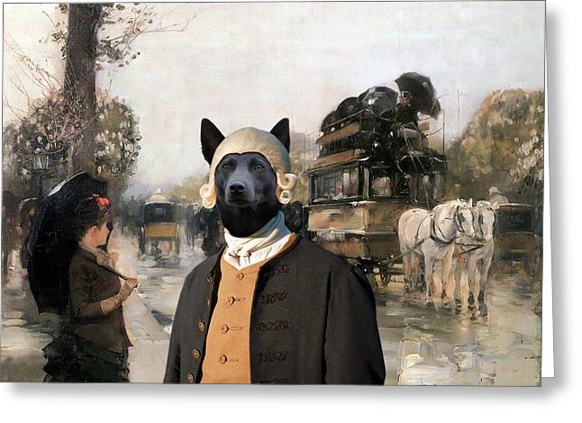 Australian Kelpie Art Canvas Print  Greeting Card