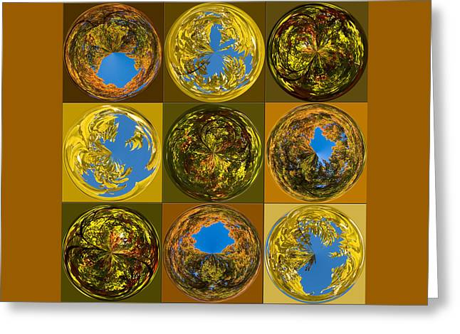 Autumn  Spheres Greeting Card by Denise Beverly