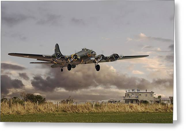 B17- 'airborne' Greeting Card