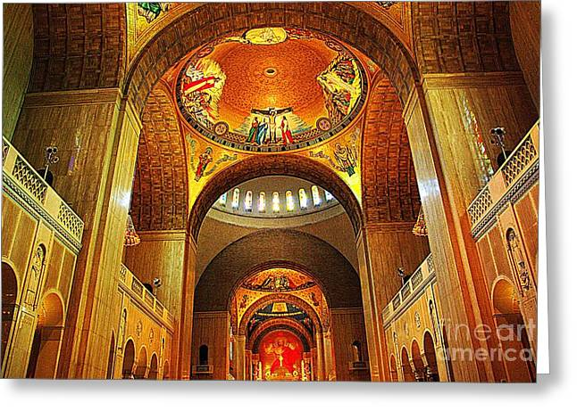 Greeting Card featuring the photograph  Basilica Of The National Shrine Of The Immaculate Conception by John S