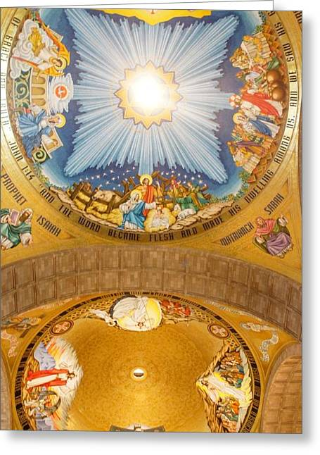 Basilica Of The National Shrine Greeting Card by Art Spectrum