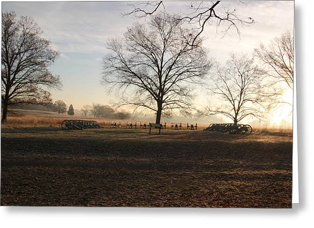 Battery Park Valley Forge National Park Greeting Card