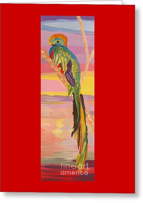 Beautiful Bird Quetzal Must Open  Greeting Card