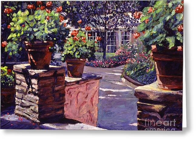 Bel-air Gardens Greeting Card by David Lloyd Glover