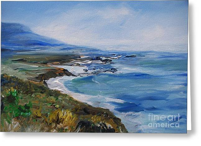 Big Sur Coastline Greeting Card by Eric  Schiabor