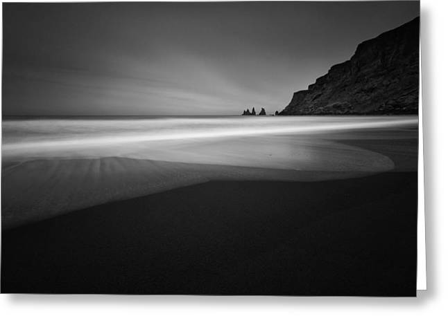 ... Black Beach Greeting Card