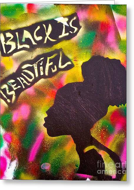 Black Is Beautiful Girl Greeting Card by Tony B Conscious