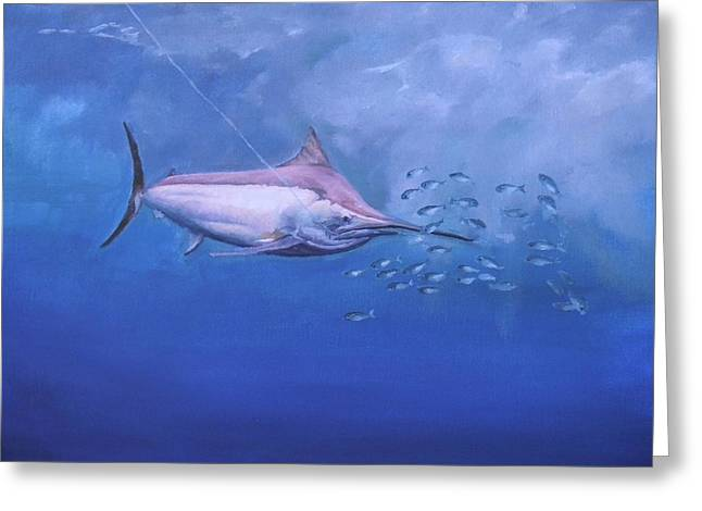 Black Marlin Greeting Card