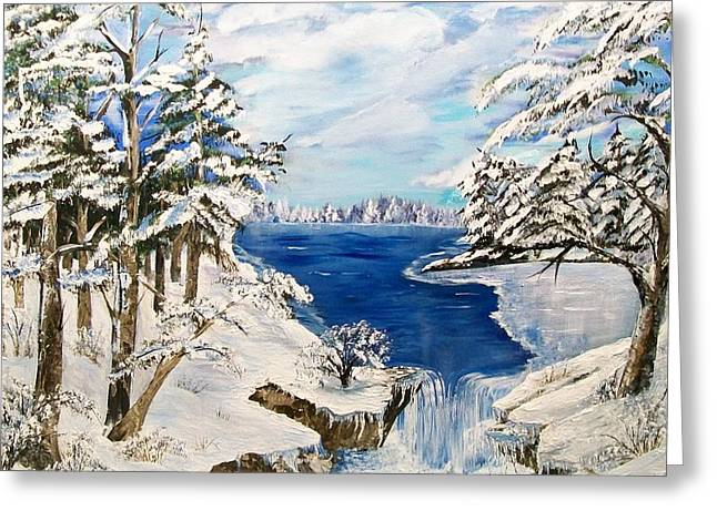Blanket Of Ice Greeting Card by Sharon Duguay