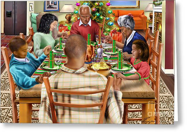 Bless Us O Lord And These Thy Gifts Greeting Card by Reggie Duffie